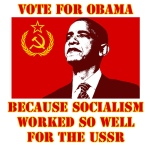 communist obama flag